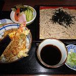 きつ井 - 天丼セット-ざるそば(750円)