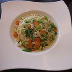 NAOMI - 小海老と野菜のペペロンチーノ