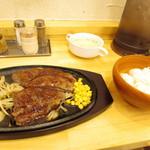 ステーキ屋 ケンちゃん - ケンちゃんランチセット ロースステーキ 200g