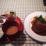 59843486 - 黒毛和牛モモ肉カツレツランチ