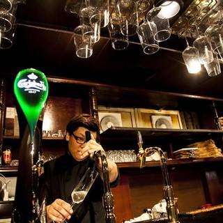 樽生スパークリングワイン&世界第4位のビールをご用意