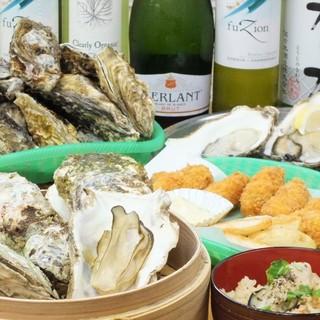 生牡蠣&焼き牡蠣食べ放題