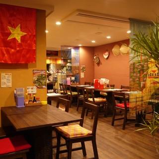 ベトナムの小さなカフェ