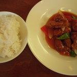 広東海鮮料理 正 - ご飯と酢豚