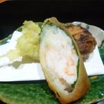 かま田 - 椎茸と里芋等