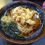 峠の蕎麦 - ゲソ天そば(460円)
