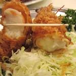 レストラン桂 - 大海老の太さ。