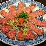 池田銀なべ - 牛肉のたたき