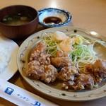 キッチン丸山 - とり天セット(680円)