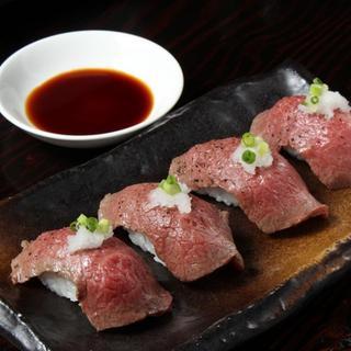 【裏メニュー!?】巷で話題の肉寿司