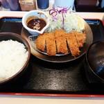 松のや - 味噌ロースかつ定食(並)