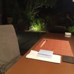 海のしょうげつ - 夕食の席です。