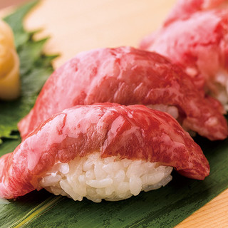 米沢牛の肉寿司
