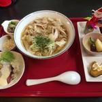 食彩遊膳 まる梅 - 肉帯麺セット ¥750