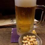 59885586 - お通しの酢大豆とビール
