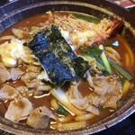 山科 - 料理写真:天ぷら味噌煮込うどん