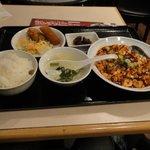 Bishokutenchiharuka - 日替わりランチ(麻婆豆腐)680円