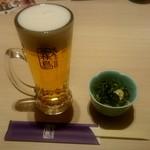 ちゃんこ霧島 - 生ビール:600円