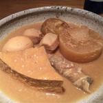 農業高校レストラン - 岡田本家盛典酒粕の味噌おでん盛り