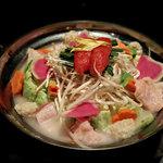 九州個室居酒屋 はかた桜 - 博多明太 鶏白湯鍋
