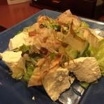 大黒屋  - 豆腐サラ…木綿豆腐を引きちぎった感の豆腐