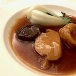 59895383 - アワビと椎茸、湯葉のオイスターソース煮