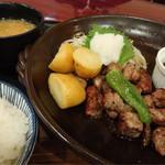 59897805 - サイコロステーキ定食