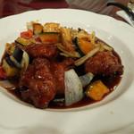 気楽坊 展望レストラン - 鶏肉と野菜の酢豚風