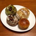 59898374 - ブリオッシュクリームパン・カンパーニュ(ナッツ&フルーツ)・抹茶マロン・アールグレイとホワイトチョコ