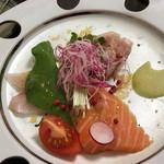 吟 - カルパッチョのお魚も新鮮でd(^_^o)