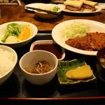 時計台 - 本日の定食(ヒレカツ定食)
