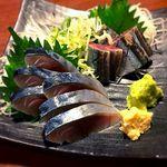 串や とりけん - しめさば¥450+秋刀魚¥450 2016.11.14