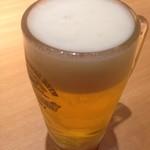 やよい軒 - 生ビール 370円
