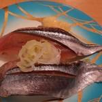 魚々楽寿し - 秋刀魚300円