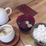 花菜ごよみ。 - 雑穀ごはん、茶碗蒸し、 お吸い物