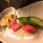 居酒屋 NIJYU-MARU - 漬物  だいぶ食べてしまいました。