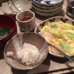 肴菜家 おがわ - メインの玉子とエビの炒め物