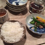 肴菜家 おがわ - ご飯と副菜