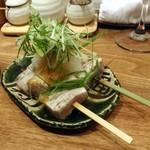オトナノイザカヤ中戸川 - メカジキの串焼き おろしと九条ネギと850円x2