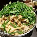 59909455 - 白いキツネ鍋(鶏団子と小揚げの白湯鍋)