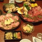 あら川 - 御宴会風景2 肉3名様分