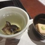Awajishimatokurae - お通しとひれ酒
