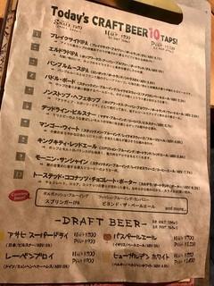 COOL BEER CRAFT GRANO - メニゥ