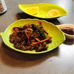 キッチン真味屋 - 鹿の焼肉
