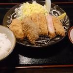 59917952 - 相盛り定食(ロース&ヒレ)