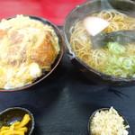 権八 - ミニ丼セット かつ丼