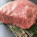 阿波黒牛のランプステーキ