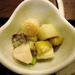 しゃぶ玄 - しゃぶ玄 @西葛西 帆立と薩摩芋の温サラダ