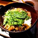 59922960 - 合鴨の狩猟鍋。このあと雑炊になります。