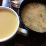 ニュートーキョー - セルフ☆★★☆豚汁 コーンスープ 懐かしい